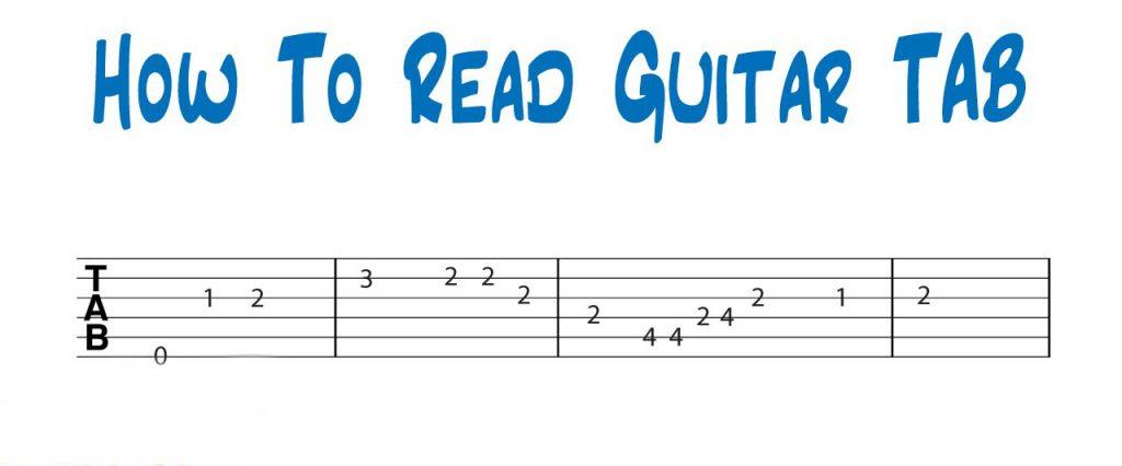 Cách đọc tab guitar